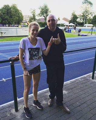 Hanne met trainer Frans Mattens